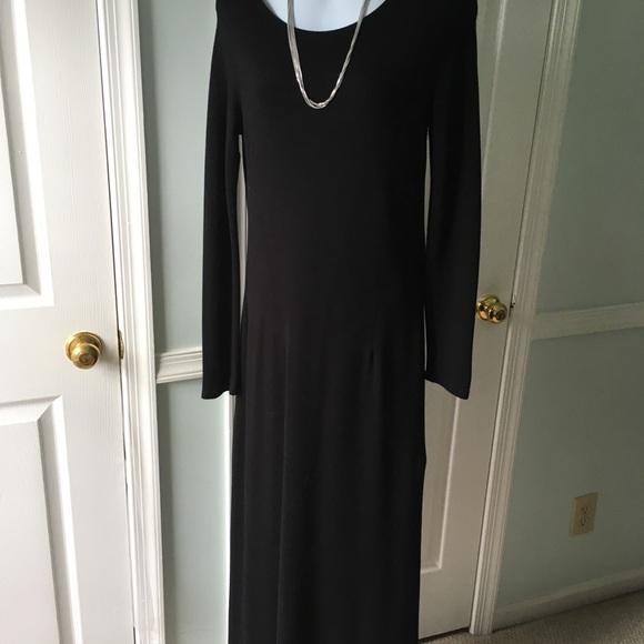 1ddf40cb4 Nordstrom Dresses | Long Black S Heavy Jersey Dress | Poshmark
